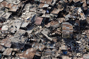 Somebody actually lived buried underneath this debris for 28 days! Wow!